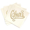 Cheers Cocktail Napkins - Ivory