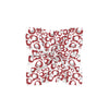 Crimson & Gray Spot Cheetah Mini Scarf