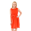 Emily Sleeveless Dress - Fiery Red