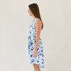 Emily Sleeveless Dress - Spot Cheetah Bleu