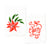 Poinsettia + Cheers Ribbon Flour Sack Tea Towel Set