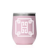 Monogrammed 12oz Wine Tumbler - Various Colors