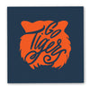 Go Tigers Cocktail Napkins - Navy & Orange