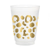 Gold Spot Cheetah Frosted Cups