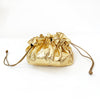 Leather Jewelry Poof - Gold