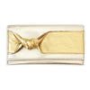 Leather Elizabeth Wallet with Knot - Platinum Mello with Gold