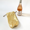 Leather Wine Bag - Gold