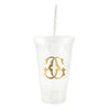 Personalized Tumbler with Straw