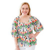 Havana Top - Jungle Ikat