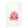 Monogrammed Holiday Linen Guest Towel