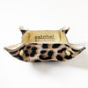 Leather Travel Tray - Hair on Hide Leopard