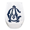 Stemless Monogram Wine Glass