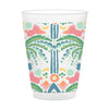 Jungle Ikat 16oz Frosted Cup Set