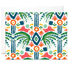 Notecard Set - Jungle Ikat