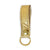 Leather Key Fob - Metallic Gold