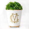 Monogrammed Large Cachepot - Various Colors