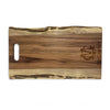 Monogrammed Live Edge Single Handle - Walnut