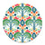 Patterned Shatterproof Dinner Plate - Jungle Ikat
