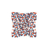 Navy & Orange Spot Cheetah Mini Scarf