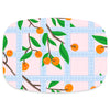 Shatterproof Serving Platter - Orange Trellis