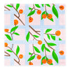 Cloth Dinner Napkins - Orange Trellis