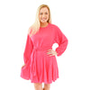 Party Swing Dress - Fandango Pink
