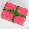 Personalized Name Christmas Gift Wrap