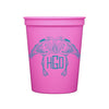 Monogrammed Stadium Cups - Various Colors