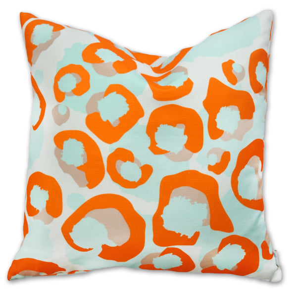Pillow - Spot Cheetah Tangerine