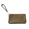 Leather Piper Wristlet- Metallic Bronze