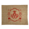 Monogrammed Burlap Placemats - Set of 4