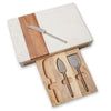 White Marble Board with Cheese Set