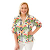 Poppy Top - Jungle Ikat
