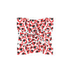 Red & Black Spot Cheetah Mini Scarf