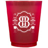 Monogrammed Holiday Frosted Cups (Red & Green)