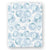 Satin Trim Minky Blanket - Baby Blue Spot Cheetah
