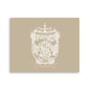 Savannah Crest Lucite Serving Tray