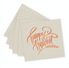 Happy Harvest Linen Beverage Napkins