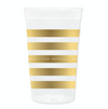 Live Joyfully Stripe Stadium Cups with Lids and Straws