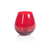 Luster Red Stemless Glass