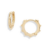 Granulated Huggy Earrings - Gold