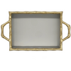 Colorblock Chang Mai Tray - Taupe and Gold
