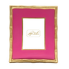 Colorblock Bamboo Picture Frame - Pink 5x7