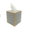 Colorblock Square Tissue Box Cover - Taupe