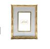 Colorblock Bamboo Picture Frame - White and Gold 5x7
