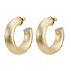 Small Chantal Hoop Earring - Brushed Gold
