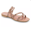 Izabel Studded Sandals - Cafe