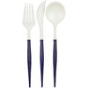 Flatware- White & Navy