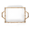 Colorblock Chang Mai Tray - White and Gold