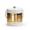 Ice Bucket - White with Brushed Gold Center